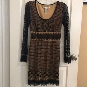 Studio M dress with sheer sleeves